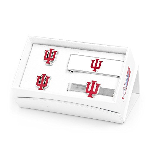 NCAA Mens Indiana University Hoosiers 3-Piece Gift Set by Cufflinks
