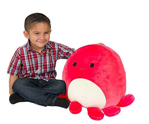 Squishmallows Kellytoy Red Veronica Plush Octopus 16 Inch