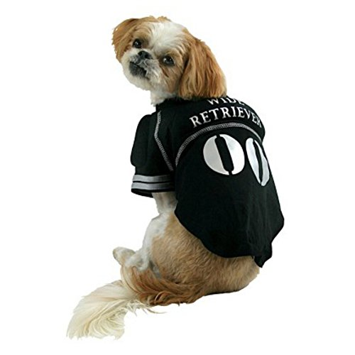 Wide Retriever Dog Costume Padded Pet Tee Halloween Football Player T-Shirt