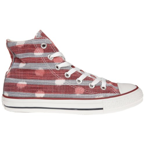Converse Chuck Taylor All Star Striped Polka Dot Shoes - Varsity Red Athletic Red - UK 3