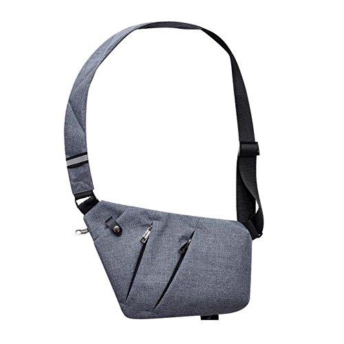 SIYUAN Crossbody Chest Bag Waterproof Lightweight Sling Shoulder Bag Hiking Cycling Climbing for Men Women Gray by SIYUAN