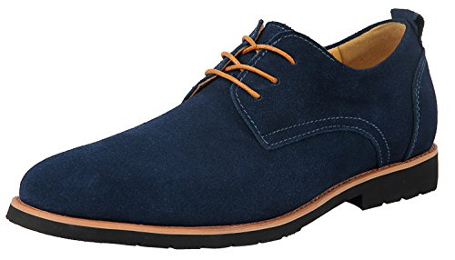 iLoveSIA Men's Leather Suede Oxfords Shoe US Size 10.5 ()
