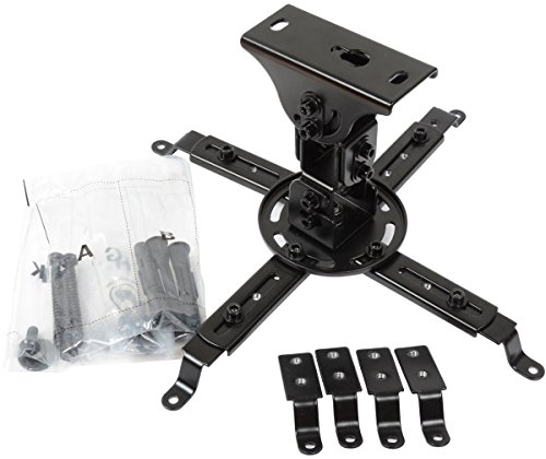 VideoSecu LCD DLP Tilt Swivel Sloped Projector Ceiling Mount Bracket Fit Flat and Vaulted Ceiling PJ1B WU7