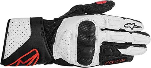 Alpinestars Stella SP-8 Womens Leather Gloves, Black/White/Red, Large/LG