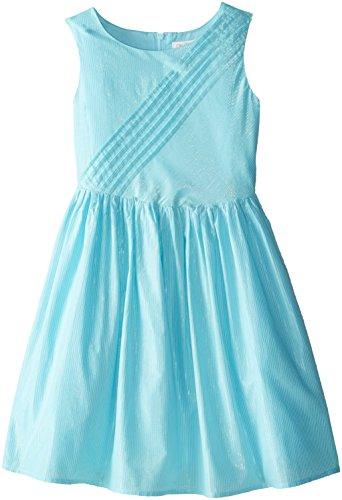 The Children's Place Big Girls' Lurex Fancy Dress, Bay Breeze, 10
