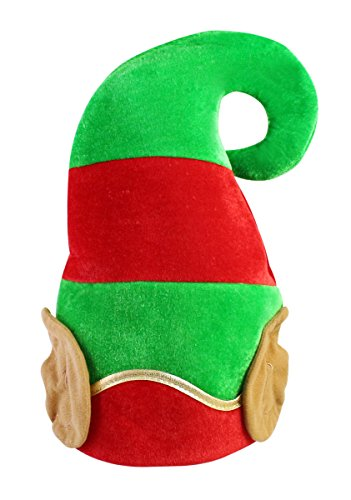 Adorable Fabric Christmas Halloween Bicolor Elf Ears Hat Costume Accessory, Red and Green (Christmas Elf Ears)