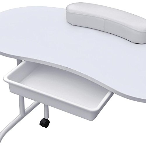 Ogima foldable manicure table nail technician desk for Portable manicure table nail technician workstation