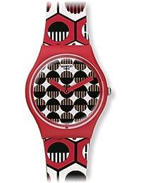 Swatch Men's Originals GR163 Red Silicone Swiss Quartz Watch