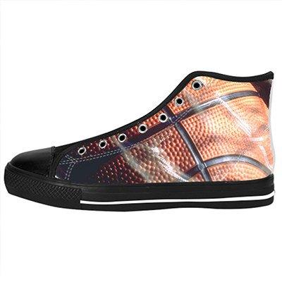 Custom Basketball Womens Classic High Top Canvas Shoes Fashion Sneaker (Captain America Shoes Basketball)