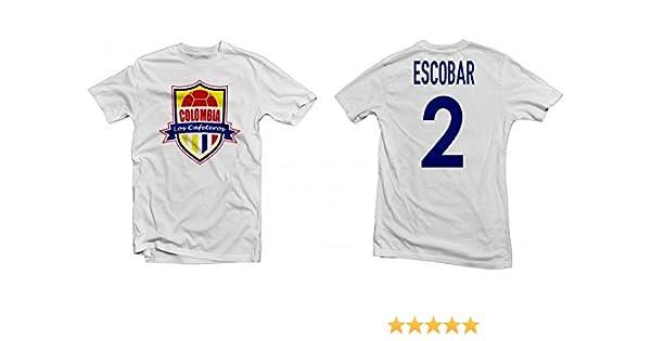 164e2e2b9 Amazon.com  Colombia Los Cafeteros Legend Tee  Andrés Escobar Printed Tee -  White