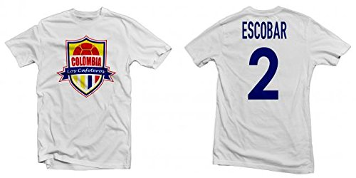 edff62adc Colombia Los Cafeteros Legend Tee  Andrés Escobar Printed Tee - White