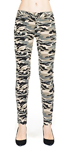 Megan apparel Women's Slim Fit Super Stretch Comfy Camouflage Printed Jeggings Leggings Skinny Pants