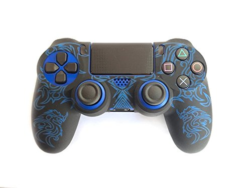 Gametown® Silicone Protective Case Cover for Sony Playstation 4 PS4 Dual Shock 4 Controller Color Blue with Black