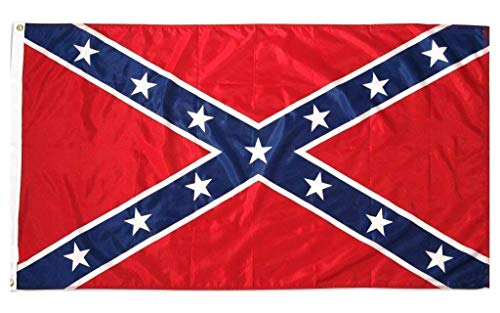 Flag Rebel Confederate - NEOPlex 3x5 Battle Flag Civil War Historical Pennant CSA Indoor/Outdoor