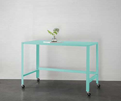 Urban Shop WK656877 Metal Rolling Desk, Mint by Urban Shop