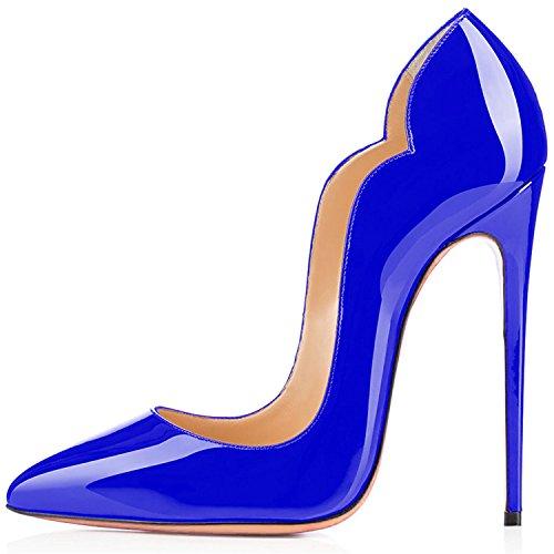 Ubeauty Tacco x Scarpe Donna Da Col Classiche Blue vvSBa1q4wn