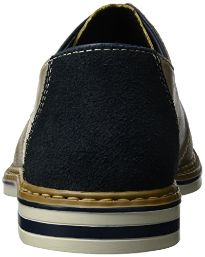 Rieker B1428, Zapatos de Cordones Derby para Hombre Gris (Elefant/navy/pazifik / 43)