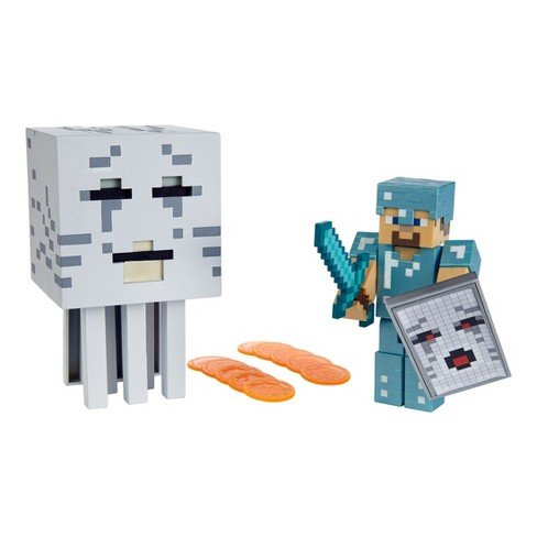 Minecraft Steve vs Fire-breathing Ghast Battle In A Box