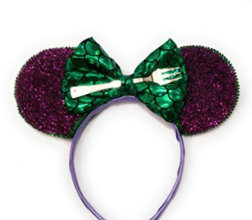 Little Mermaid headband inspired Ariel ears Mermaid Minnie ears Ariel's Digglehooper ()