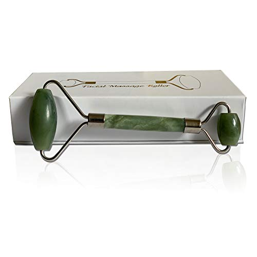 Pro-Nu Jade Roller Face Massager with Natural Jade Stone for Face Eye Massage