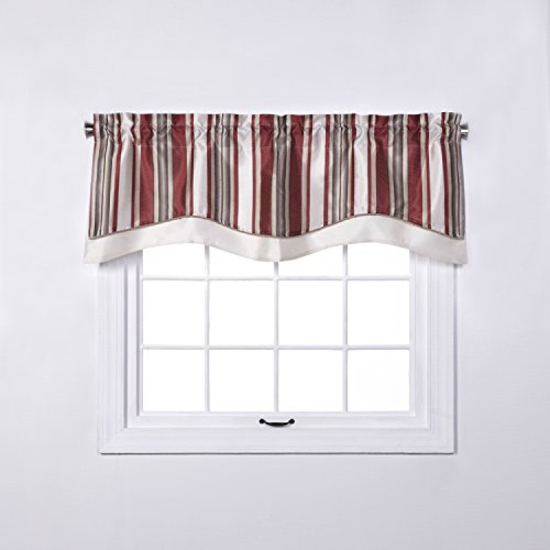 RENAISSANCE HOME FASHION MAXTON Layered Scalloped VALANCE for sale  Delivered anywhere in USA
