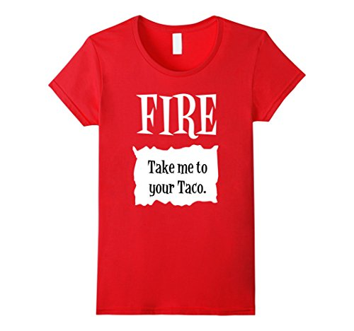 Womens Fire Hot Sauce Packet Tee - Group Halloween Costume Shirts XL Red - Ideas For Halloween Costume For Work