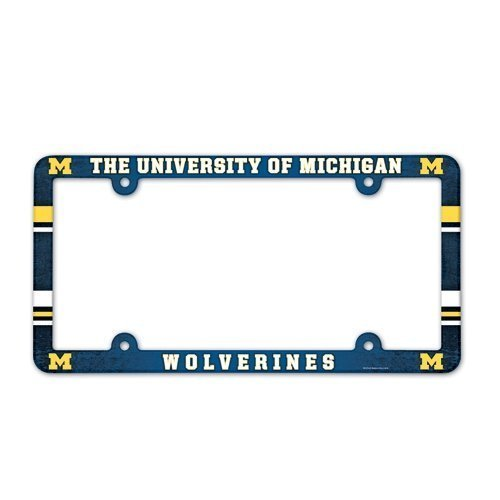 Full Color License Plate - Michigan Wolverines Full Color License Plate Frame Color: Michigan Wolverines Model: Plastic License Plate Frame Car/Vehicle Accessories/Parts