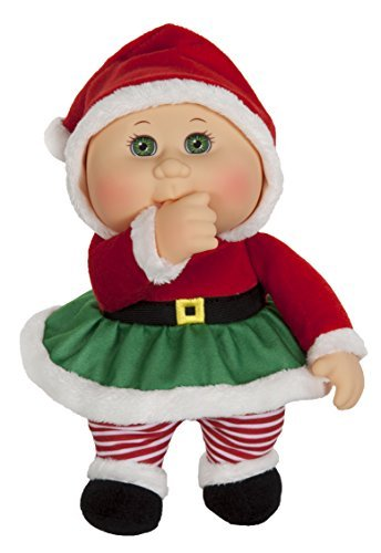 Cabbage Patch Kids 9 Inch Collectible Holiday Helpers Softbody Cuties Doll, Eve Claus by Cabbage Patch Kids