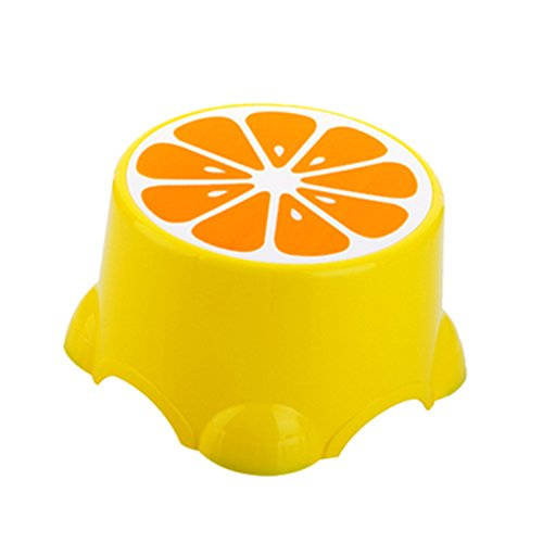 Blancho Bedding Cute Cartoon Creative Anti-skidding Plastic Stool Footstool for Children, Lemon (Small) by Blancho Bedding