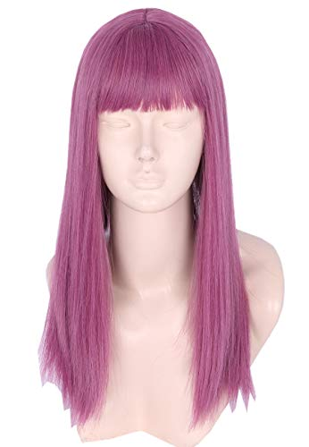 Topcosplay Kids Wig Purple Long Mal Cosplay Wig Halloween Costumes Wigs for Child -
