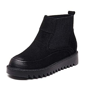 Shukun Botines Martin Boots Botines para Mujer Otoño Personality Students Flat Spring: Amazon.es: Deportes y aire libre