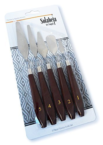 Culina 70401 Solabela Painter's Palette Knives and Spatulas Set