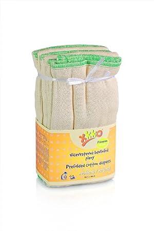 XKKO Prefolded Diapers Premium (6 Pieces, Natural) CTNPRF008