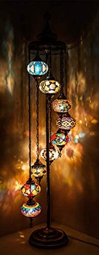 Wishicious Handmade Turkish Lamp Moroccan Mosaic Floor Lamp