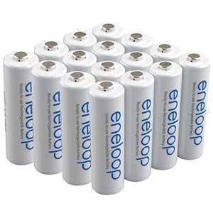 Sanyo 16 Pack New Version Sanyo Eneloop 2000 MAH LOW Discharge AA Batteries Sixteen Battery Bundle