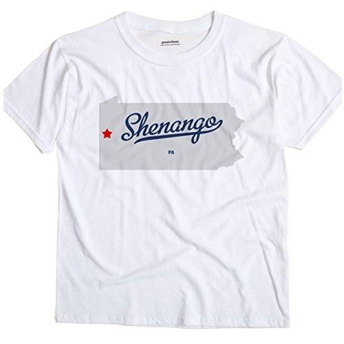 Shenango Pennsylvania PA MAP GreatCitees Unisex Souvenir T Shirt