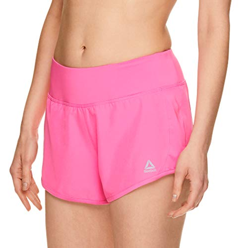 - Reebok Women's Athletic Workout Shorts - Gym Training & Running Short - 3 Inch Inseam - Bravo Ultra Pink, Medium