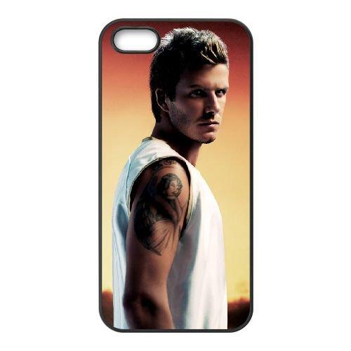 David Beckham Side Pose Wide coque iPhone 5 5S cellulaire cas coque de téléphone cas téléphone cellulaire noir couvercle EOKXLLNCD23084