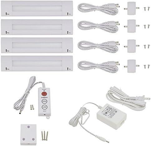 Lightkiwi S3003 Lilium 6 Inch Warm White Modular LED Under Cabinet Lighting – Standard Kit 4 Panel
