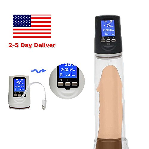 Big Mans Pump (M&SStore Electric Beginner Male Enlarger Pump for Men Bigger Enlargement Enhancer Men Big)