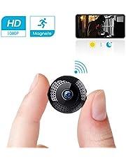 Mini Cámara espía Portátil Interior HD 1080P /Exterior WiFi Cámara de Seguridad Admite Tarjeta hasta 128G(no Incluye) / Vision Nocturna Cámara de Vigilancia