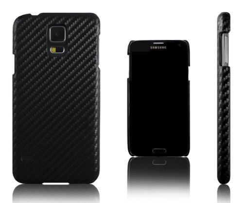 Effect Hard Plastic Case for Samsung Galaxy S5 i9600. (Compatible with All Samsung Galaxy S5 Models). Black (Carbon Fibre Effect)