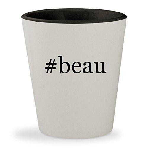 #beau - Hashtag White Outer & Black Inner Ceramic 1.5oz Shot Glass