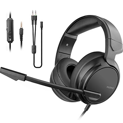 NUBWO N12 Gaming Headset for Xbox One PS4 Playstation 4, Headphones Computer PC Mic Stereo Fortnite Gamer Microphone for Skype Xbox one s Xbox 1 x Nintendo Switch Games