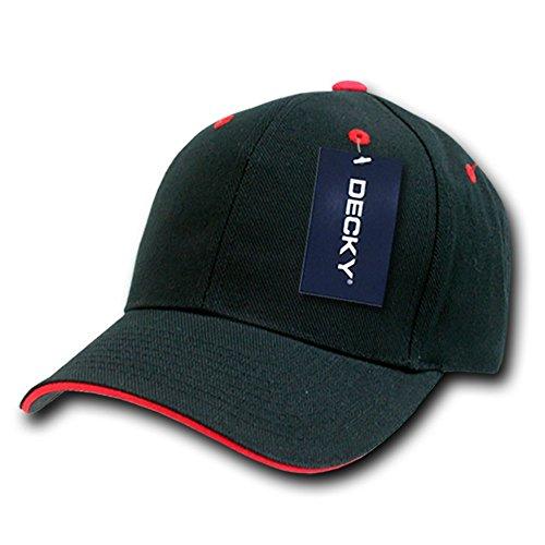 Sandwich Visor Baseball Cap - DECKY Sandwich Visor Baseball Cap, Black/Red