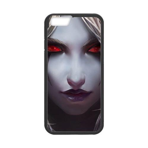 Sylvanas Windrunner coque iPhone 6 Plus 5.5 Inch cellulaire cas coque de téléphone cas téléphone cellulaire noir couvercle EEECBCAAN08561