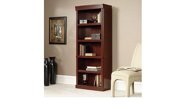 Amazon Com Clintonville 71 5 Shelf Standard Bookcase Classic Cherry Closed Back Furniture Decor