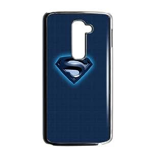 LG G2 Cell Phone Case Black Superman Blue Logo SUX_148166
