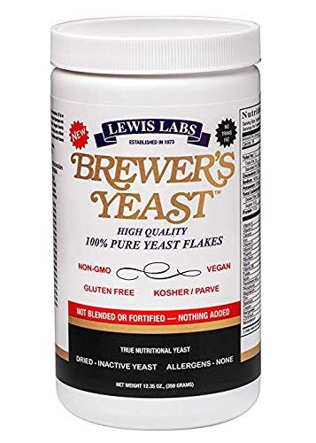 Lewis Labs Brewers Yeast - Lewis Labs Brewer's Yeast Flakes Powder (2 Pack)