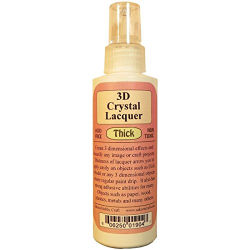 SAKURA HOBBY CRAFT 3D Crystal Lacquer Thick, 4-Ounce